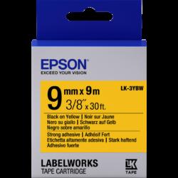 Epson LK-3YBW Black/Yellow 9mm szalag (9m)
