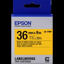 Epson LK-7YBP Black/Yellow 36mm szalag (9m)