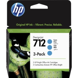 HP 3ED77A Patron 3Pack Cyan 29ml No.712 (Eredeti)