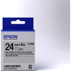 Epson LK-6SBE Black/Matt Silver 24mm szalag(9m)