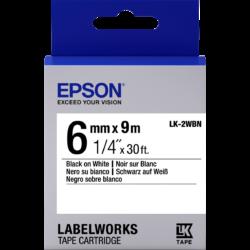 Epson LK-2WBN Black/White 6mm szalag (9m)