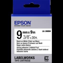 Epson LK-3WBW Black/White 9mm szalag (9m)