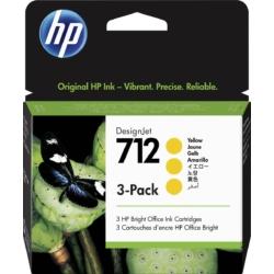 HP 3ED79A Patron 3Pack Yellow 29ml No.712 (Eredeti)