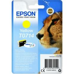 Epson T0714 Patron Yellow 5,5ml (Eredeti)