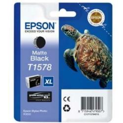 Epson T1578 Patron Matt Black 26ml (Eredeti)