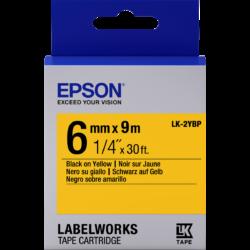 Epson LK-2YBP Black/Yellow 6 mm szalag (9 m)