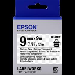 Epson LK-3TBW Black/Clear 9mm szalag (9m)