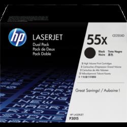 HP CE255XD Toner Black 2x12,5k No.55XD (Eredeti)
