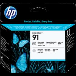 HP C9463A P.head Ph.Bk&L.Gr No.91 (Eredeti)