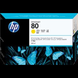 HP C4848A Patron Yellow 350ml No.80 (Eredeti)