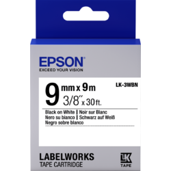 Epson LK-3WBN Black/White 9mm szalag (9m)