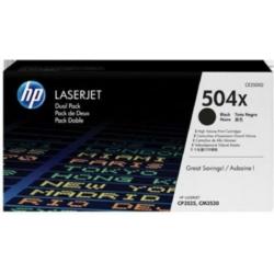 HP CE250XD Toner HBk 2x10,5k No.504X (Eredeti)