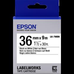 Epson LK-7WBN Black/White 36mm szalag (9m)