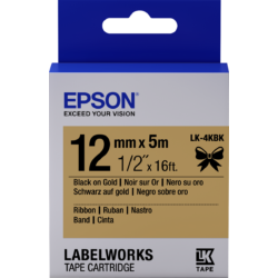 Epson LK-4KBlack Black/Gold 12mm szalag (5m)