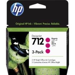 HP 3ED78A Patron 3Pack Magenta 29ml No.712 (Eredeti)