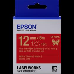 Epson LK-4RKK Gold/Red 12mm szalag (5m)