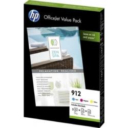 HP 6JR41AE Patron C/M/Y No.912 + A4 Papír