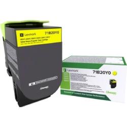 Lexmark CS/CX/317/417/517 Return Toner Yellow 2,3K (Eredeti) 71B20Y0