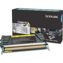 Lexmark C746/C748 Return Toner Yellow 7K (Eredeti) C746A1YG