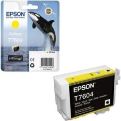 Epson T7604 Patron Yellow 26ml (Eredeti)