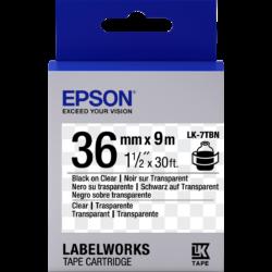 Epson LK-7TBN Black/Transparent 36mm szalag(9m)