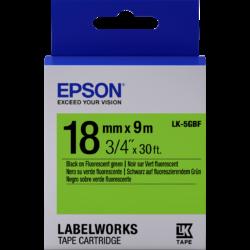 Epson LK-5GBF Black/Green 18mm szalag (9m)