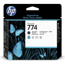HP 774 Matte Black/Cyan Printhead (Eredeti)