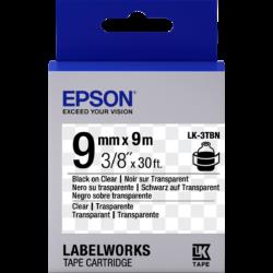 Epson LK-3TBN Black/Clear 9mm szalag (9m)