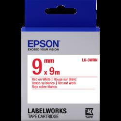 Epson LK-3WRN Red/White 9mm szalag (9m)