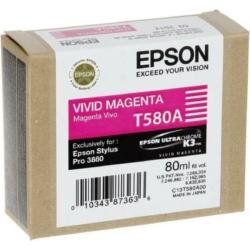 Epson T580A Patron Vivid Magenta 80ml (Eredeti)