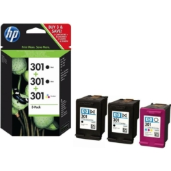 HP E5Y87EE Patron  2db Bk+1db CMY No.301 (Eredeti)