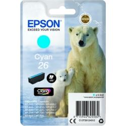 Epson T2612 Patron Cyan 4,5ml 26 (Eredeti)