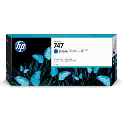 HP P2V85A Patron Chromatic Blue 300ml No.747 (Eredeti)