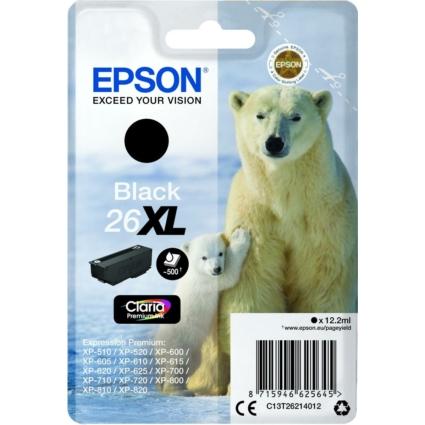 Epson T2621 Patron Black 12,2ml 26XL (Eredeti)