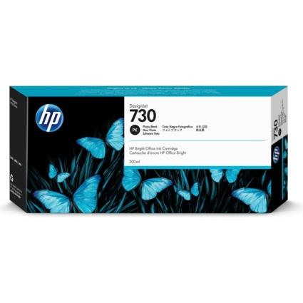HP P2V73A Patron Ph.Bk 300ml No.730 (Eredeti)