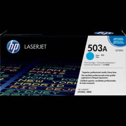 HP Q7581A Toner Cyan 6k No.503A (Eredeti)