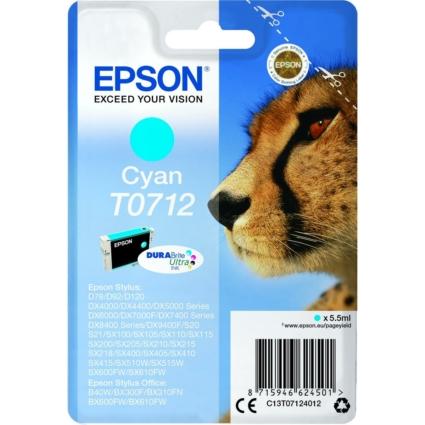 Epson T0712 Patron Cyan 5,5ml (Eredeti)
