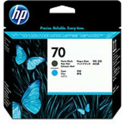 HP C9404A P.head Matt Bk/Cy No.70 (Eredeti)