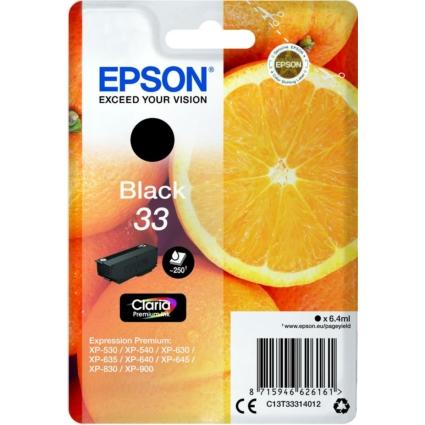 Epson T3331 Patron Black 6,4ml (Eredeti)
