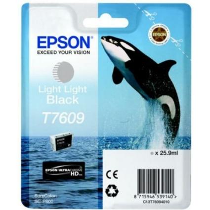 Epson T7609 Patron Light Light Black 26ml (Eredeti)
