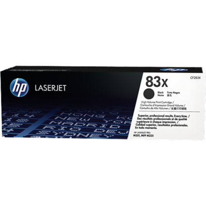 HP CF283X Toner Black 2,2k No.83X (Eredeti)