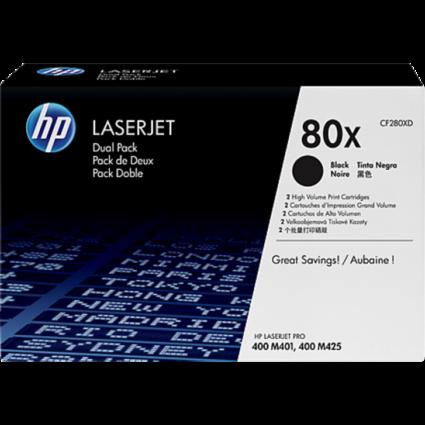 HP CF280XD Toner Black 2x6,9K No.80X (Eredeti)