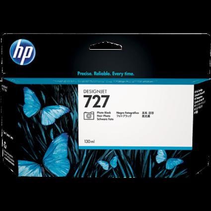 HP B3P23A Patron Photo Bk 130ml No.727 (Eredeti)