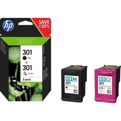 HP 301 Ink Cartridge Combo 2-Pack N9J72AE (Eredeti)